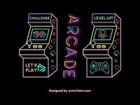 Neon Arcade Machine