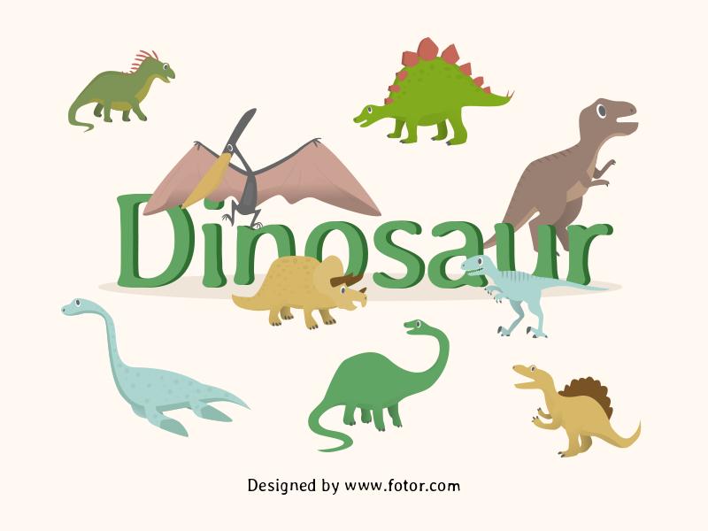 Dinosaur Sticker illustration allosaurus animal tyrannosaurus rex triceratops elasmosaurus parasaurolophus stegosaurus tyrannosaurus dinosaur sticker design fotor