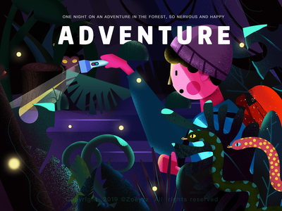 The Forest Adventure forest type ui web website design illustration branding