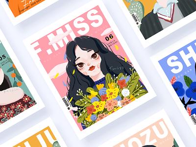 30 GIRLS & BOYS (VOL.03-06) fashion magazines the color character illustration vector ui typography illustration branding