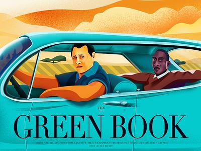 THE GREEN BOOK travel car movie art typography design illustration branding