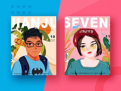 30 GIRLS & BOYS (VOL.10-11) character travel art typography website illustration design branding