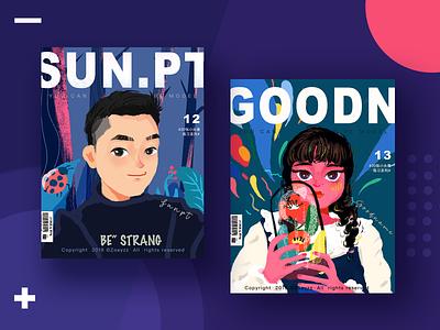 30 GIRLS & BOYS (VOL.12-13) forest book app girls character branding typography illustration