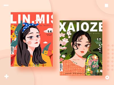 30 GIRLS & BOYS (VOL.14-15) girl illustration art travel website typography branding