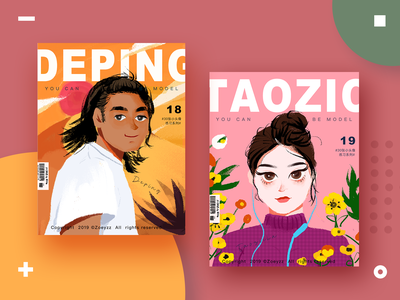 30 GIRLS & BOYS (VOL.18-19) branding character art typography illustration