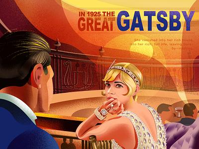 THE GREAT GATSBY 《了不起的盖茨比》 illustration design movie poster typography character art branding