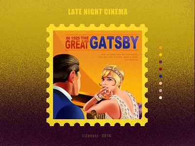 THE GREAT GATSBY 《了不起的盖茨比》 illustration movie poster design art character typography branding