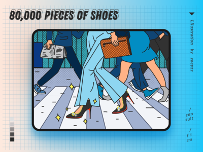 80,000 pieces of shoes