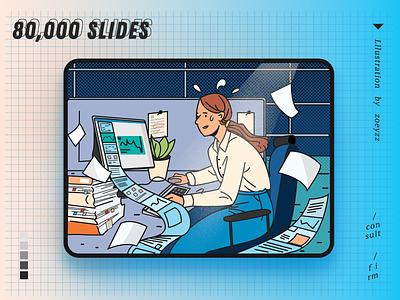 80000 Slides website work illustration typography vector movie poster travel character art design branding