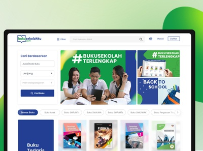 Erlangga - buku sekolahku mobile design responsive online book store official website corporate ecommerce