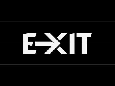 Exit logo design typography