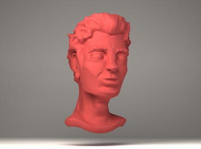 Human head 3d art 3d zbrush blender