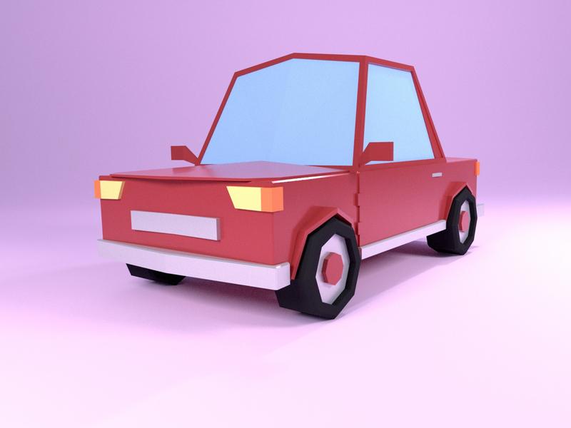 Lowpoly Car illustration lowpoly blender car 3d