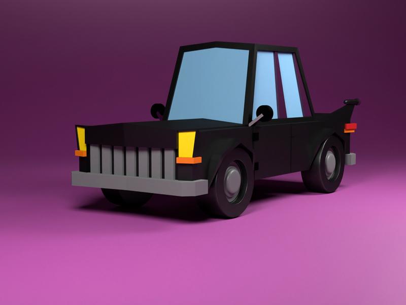DevilCar ? illustration lowpoly 3d blender car