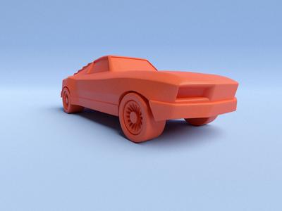 Mustang design 3d illustration blender