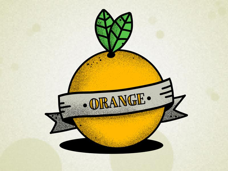 OrangeVintage illustration photoshop