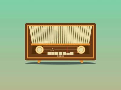 Radio Vintage affinitydesigner illustrator radio vintage