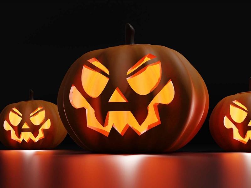 Lantern Jack halloween blender