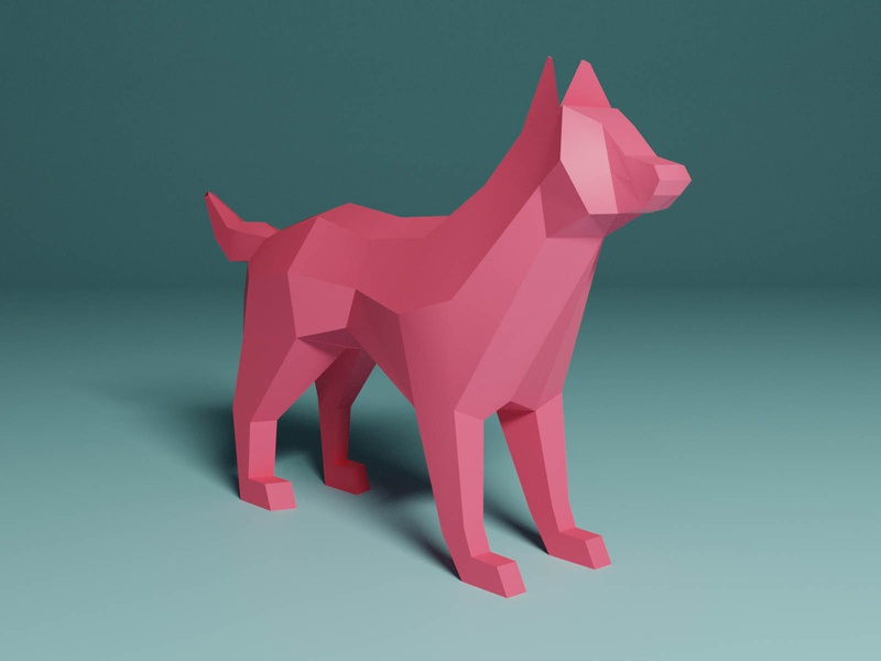 Lowpoly Dog lowpoly