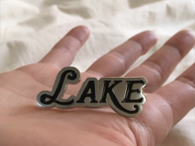 LAKE enamel pin