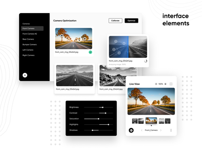 Clean Interface Elements #3 clean design flat white web website ux ui popup model interface import design components clean cards black app 3d