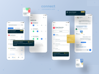 Connect App - Product #3 timeline recommended ux ui flat download resume clean product mobile app design status gold jobs resume mobile job listing