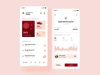 Data5: Mobile App Concept project concept ai car dashboard mobile clean product mobile app design clean design mobile app app flat design ui ux