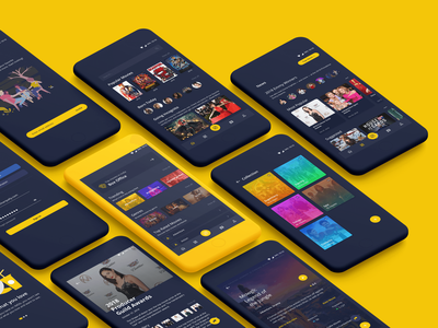 IMDb Concept App Design rework mobile app ui ux mock up ux design flat app mobile app design concept app imdb