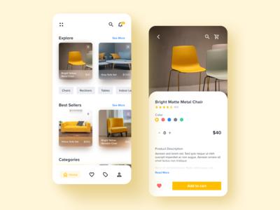 Furniture Mobile App Exploration