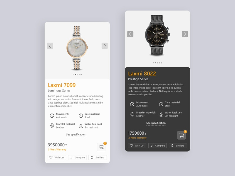 Watch store app UI design online store online shop watch ui ui design app design app