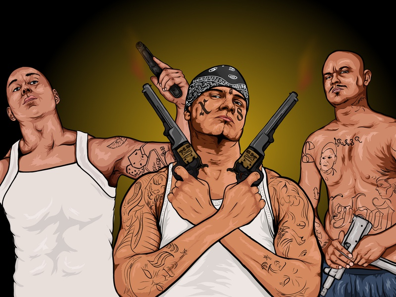Mexican Gangsters by Aqib Abbasi on Dribbble