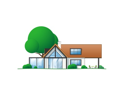 Vector House #4 real estate house illustration flat illustration artwork flat illustration vector