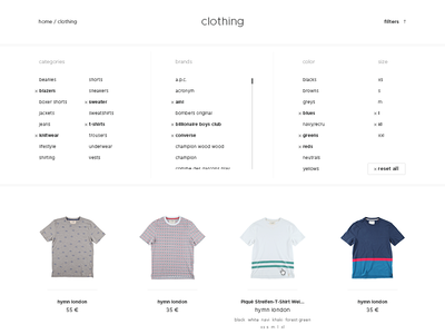 Ettage – men's clothing shop