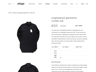 Ettage – product page
