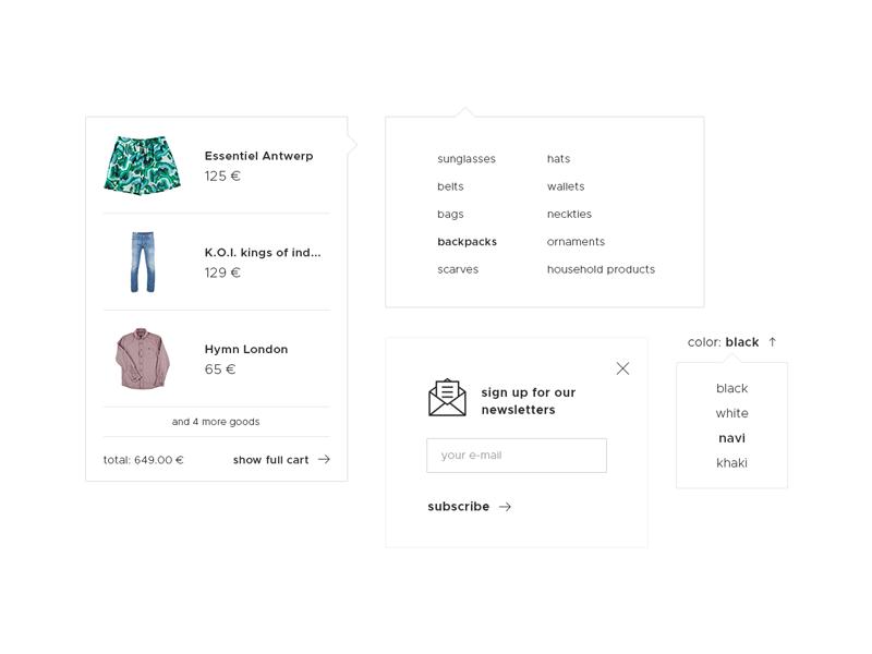 Ettage shop details site shop ecommerce web ui