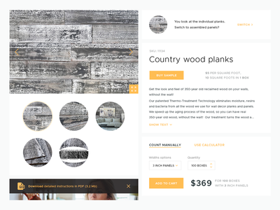 Wood planks shop
