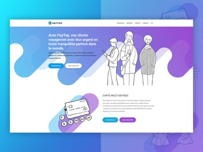 Unused Paytop Corporate design 01 flat web illustration icon ux ui design
