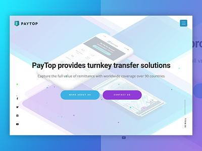 Paytop Corporate animation ui ux icon flat design web