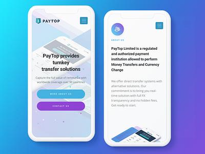 Paytop Corporate Mobile mobile illustration ux ui design
