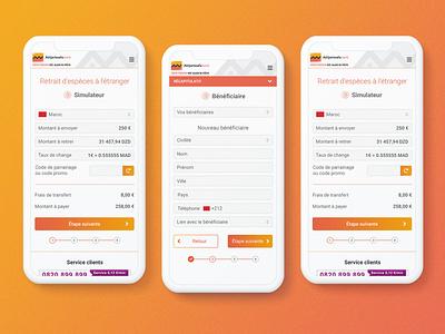 AWBE - e-Transfer mobile ui ux design