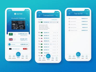 Concept App PayTop app mobile ui ux design