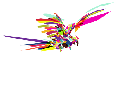 Parrot polygons animals polymals zoo parrot