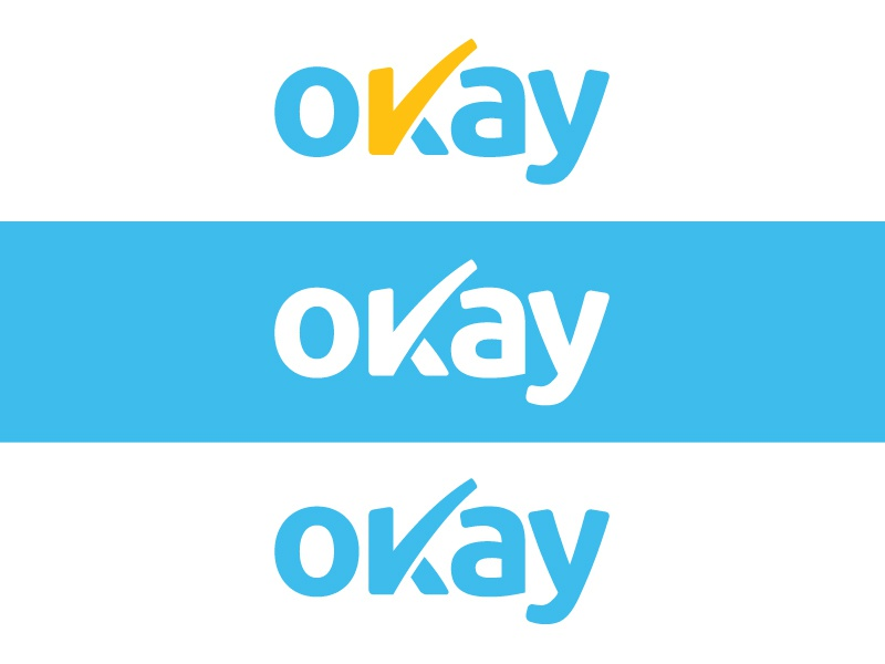 Okay New Logo security finance branding visual identity rebranding new logo client app
