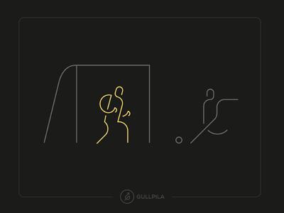 Gullpila Illustration 01 lineart geometric illustration illustration vector video stream streaming service client branding app design