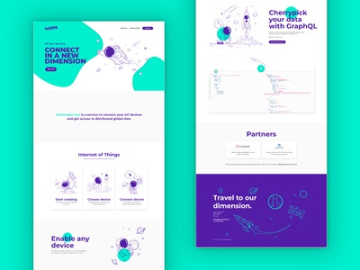 Dimension Four New Website Homepage space design ui.website design iot.landing page design homepage design dimension four
