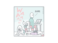 Not for everybody pastel panel illustration handrawing developer comic ecommerce client