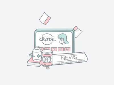 Subscription Commerce | Crystallize Illustration pastel panel illustration handrawing developer comic ecommerce client