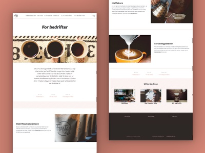 Farstad & Co. Website 2020 | Companies Page roastery ecommerce landing page coffee brand norway skien ux ui web coffee coffee shop web design website