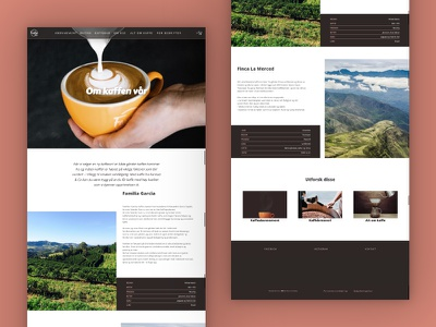 Farstad & Co. Website 2020 | About Out Coffee Page roastery ecommerce landing page coffee brand norway skien ux ui web coffee coffee shop web design website