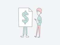 Crystallize Money Illustration